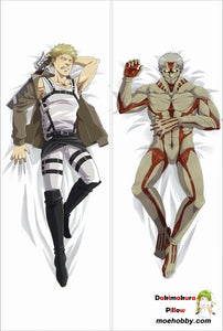 Attack On Titan Reiner Braun Anime Dakimakura Body Pillow Cover