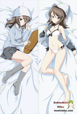 Girls Und Panzer Gup Dakimakura Mika Anime Girl Hugging Body Pillow Case Cover