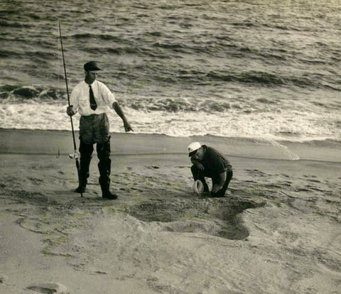 Sea monster footprints on Nantucket Island | MimsHouseBooks.com