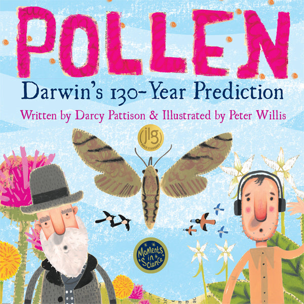 Cover of Pollen: Darwin's 130-Year Prediction | Kids Book | MimsHouse