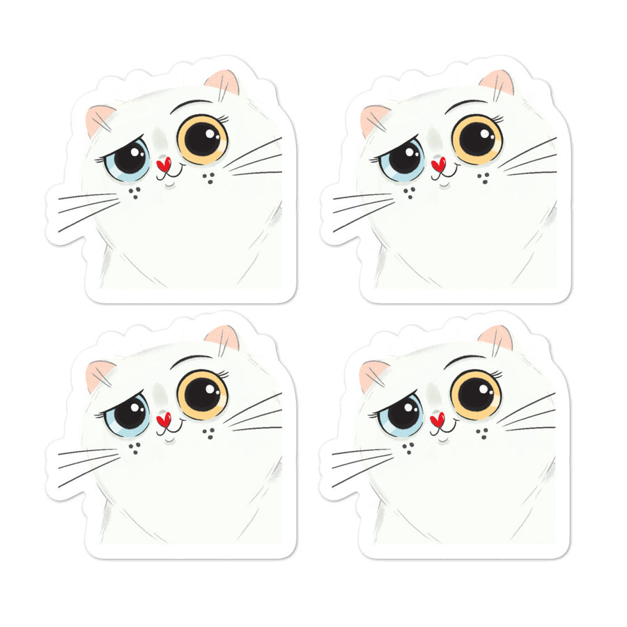 Kittytubers - Angel Persian - Bubble-free stickers