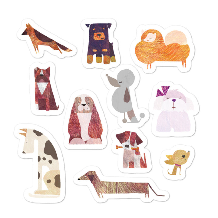 Popular Dog Breeds - Stickers