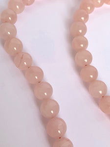 quarz  pink quarz  pink  necklace