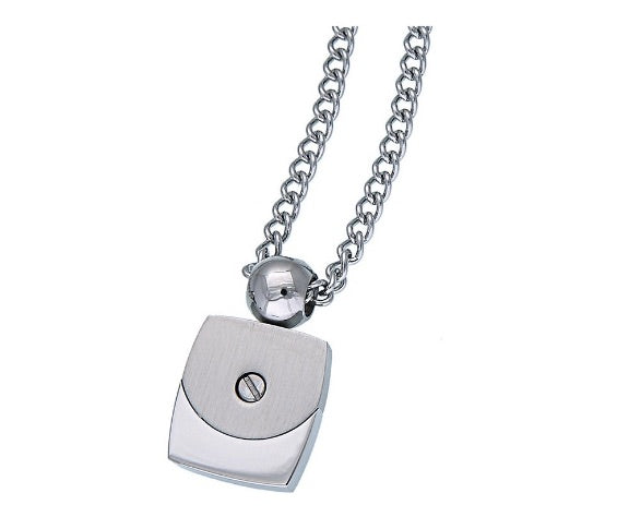 Necklace of steel brushed for man design choker collana uomo metallo