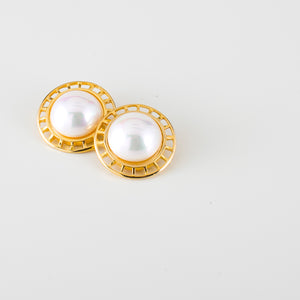big earrings with pearls