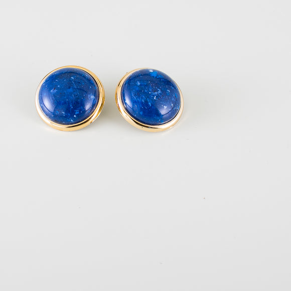 blue vintage earrings