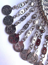 Load image into Gallery viewer, gipsy ethnic necklace metal with coins woman collana etnica gitana con monete antiche donna