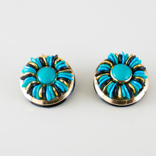 Load image into Gallery viewer, earrings blue 80s