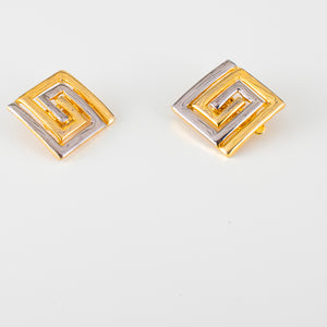 earrings golden clip