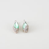 green pearl vintage earrings