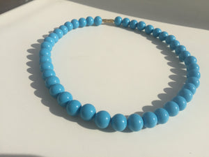necklace blue pearl chocker for woman collana perle blu donna