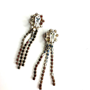 earrings strass blue pearl lady d orecchini vintage