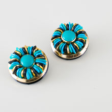 Load image into Gallery viewer, vintage blue earrings