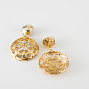 vintage italian earrings versace style