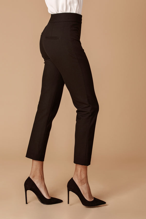 The Tailored Ankle Pant in Black
