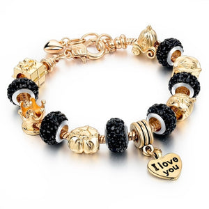 Load image into Gallery viewer, Charms bracelet: I love you