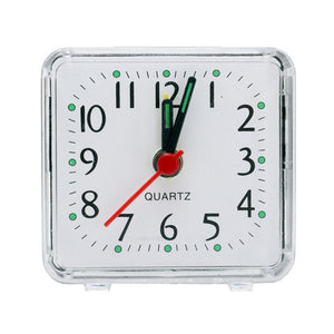 Small Alarm Clock * Transparent Case *  Student Desk Table Clock * Multiple Colors
