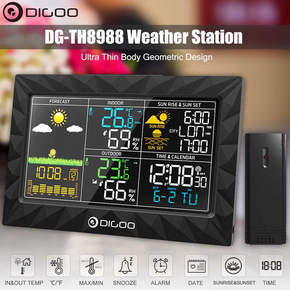 Color Weather Station + Outdoor Remote Sensor. Perfect for home or office!!