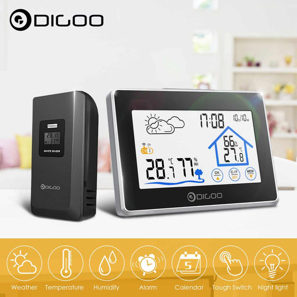 Indoor Outdoor Weather Station + 100m Outdoor Sensor. Great for home and office