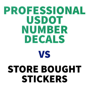 Should You Display Professional Custom DOT Stickers on Your Commercial Vehicle?