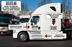 What To Display On Your Commercial Vehicle (Semi Truck) for US DOT Compliance