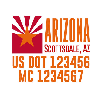 arizona 50 states collection template decals