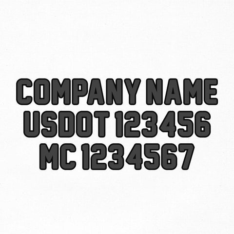 company name usdot mc truck decal