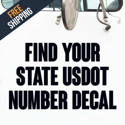find your state usdot number decal