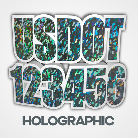 holographic metallic usdot truck decal stickers