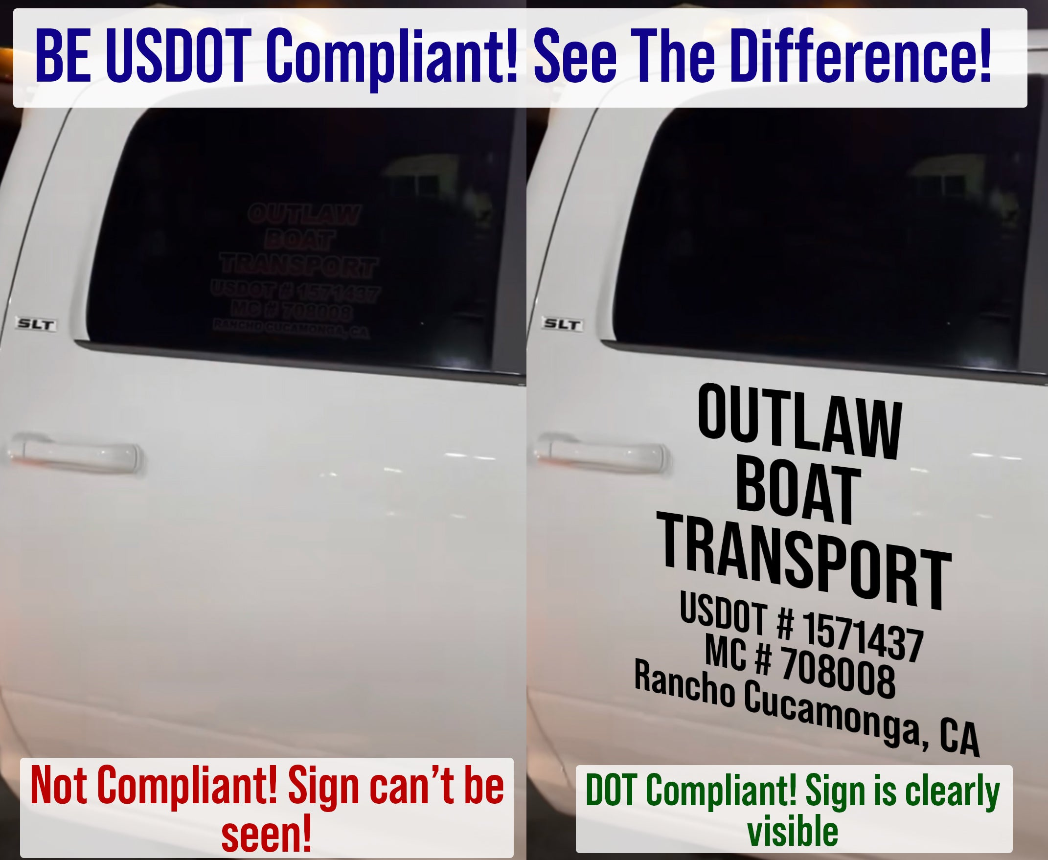 how to be usdot number decal compliant regulations and laws