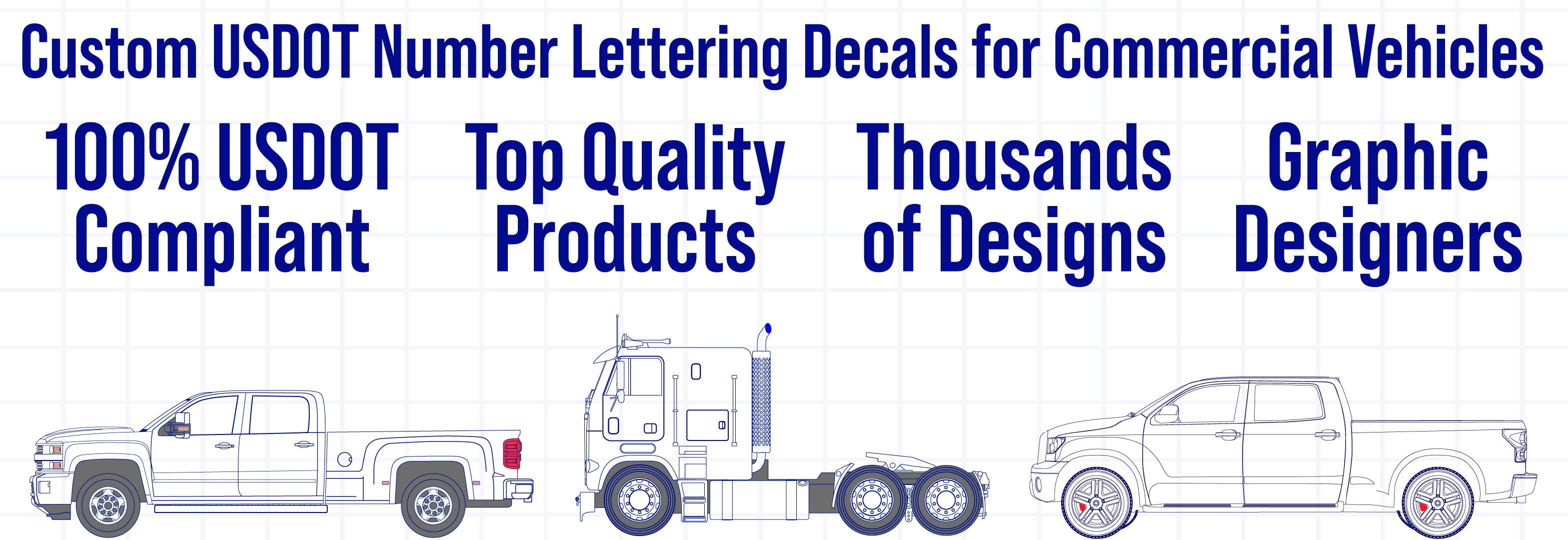 professional usdot number decal sticker lettering
