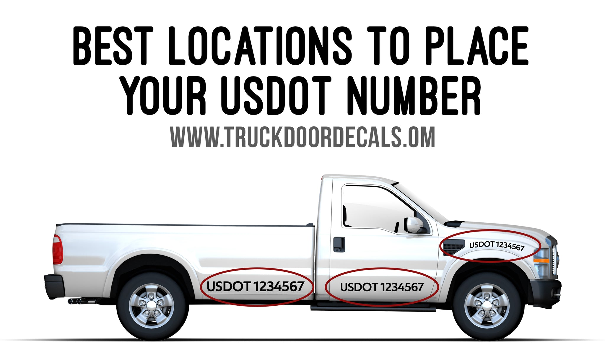 Best Locations to Place  Your USDOT Number