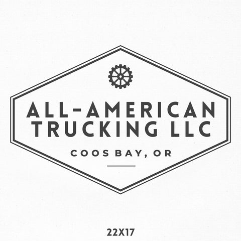 Trucking Company Name Decal
