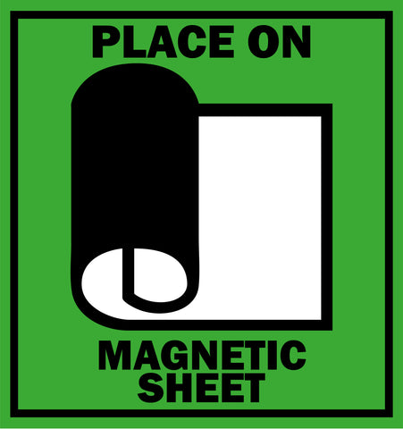 place on magnetic sheet