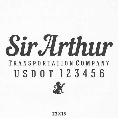 Company Name Decal with USDOT