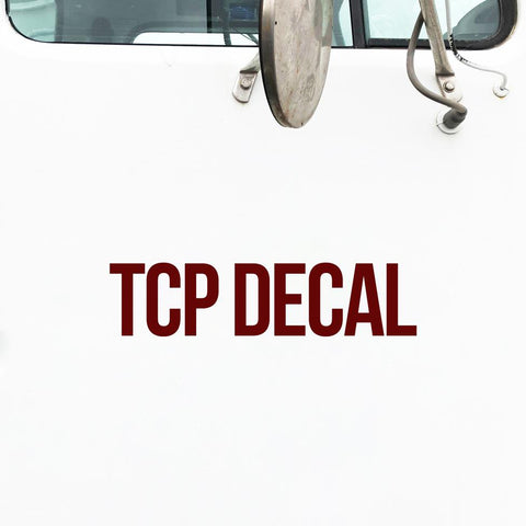 TCP Number Decal Sticker