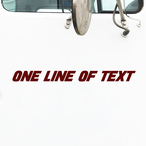 One Line of Text Decal Sticker