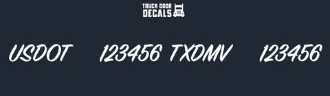 usdot txdmv number decal sticker