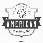 Company Name Decal for Trucking with Bald Eagle