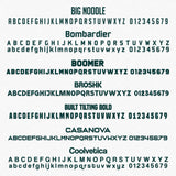 USDOT, MC, GVW & CA 4 Lines of Text Number Decal Sticker Lettering (Set of 2)