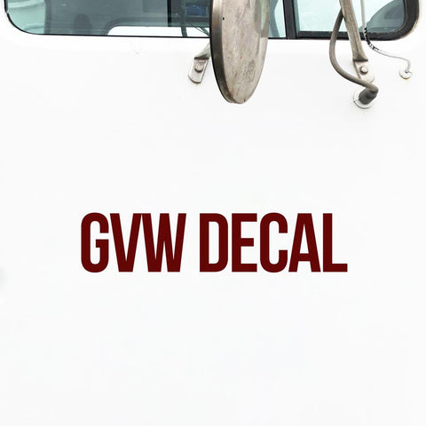 GVW Decal Sticker