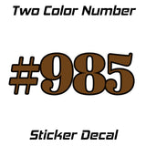 2 color usdot number decal sticker