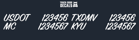 usdot mc txdmv & kyu number decal sticker