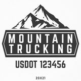 Company Name & USDOT Decal with Mountain