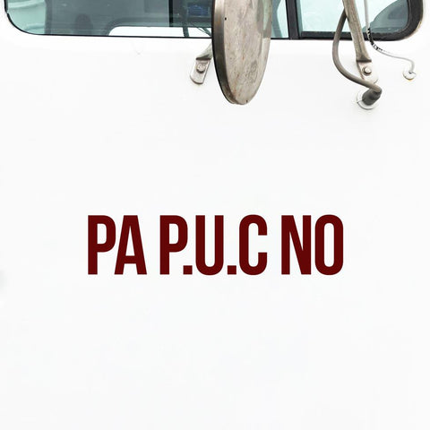PA P.U.C Number Decal Sticker
