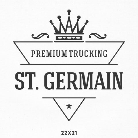 Company Name Truck Decal with Crown