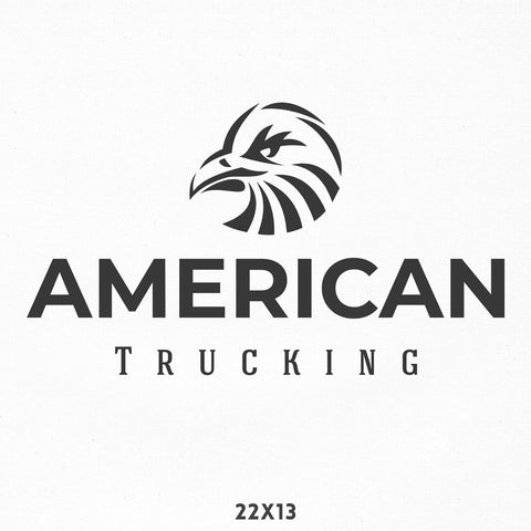 Company Name Truck Decal with Bald Eagle