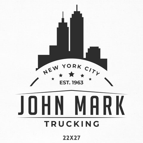 Company Name Truck Decal with Skyline