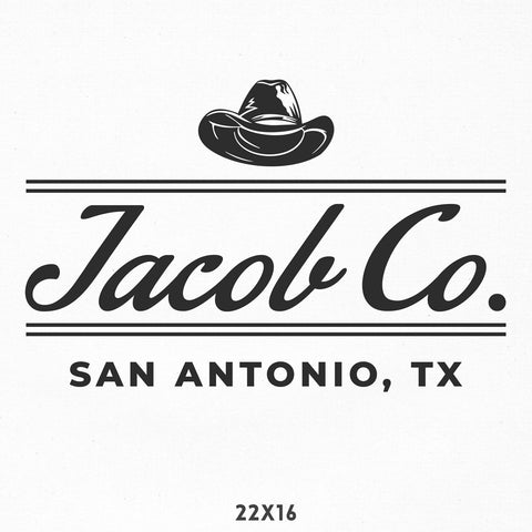 Company Name Decal, Cowboy, Western, Texas Style