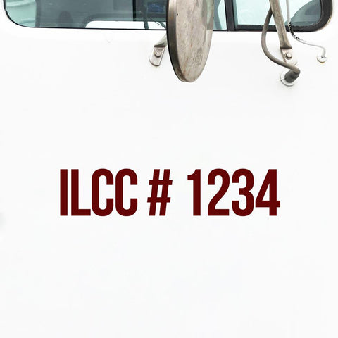 ILCC Number Decal Sticker